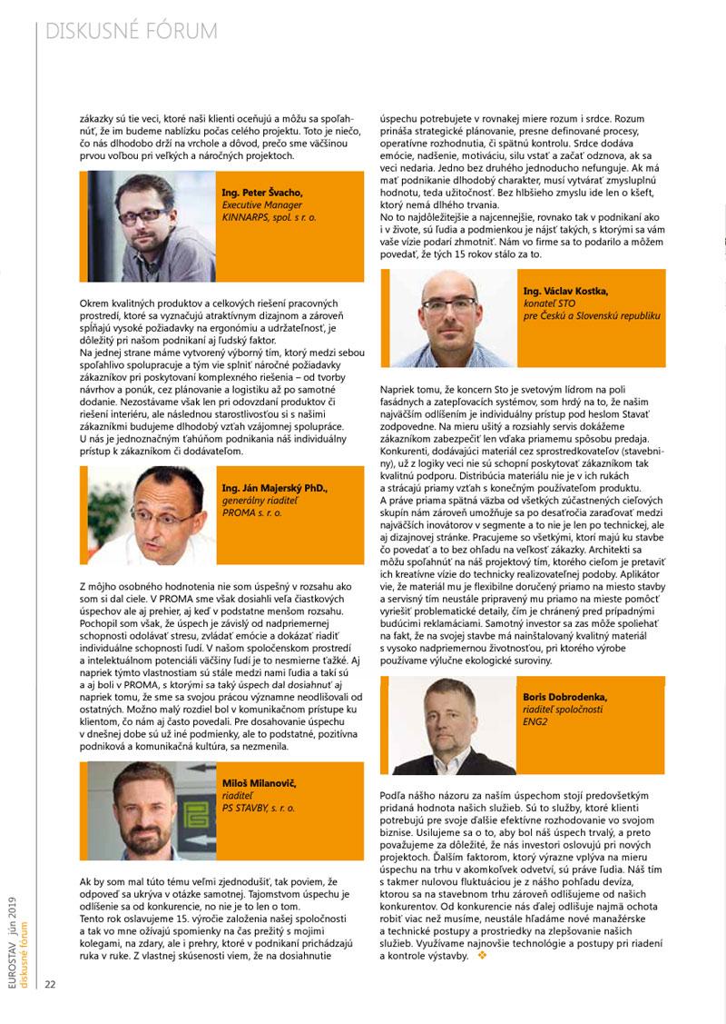 Diskusné fórum - EUROSTAV, jún 2019